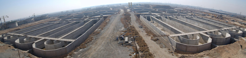 Civil Works of Tehran Southern waste water Treatment Project